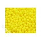 Fluorocerende plastperler 6 mm gul
