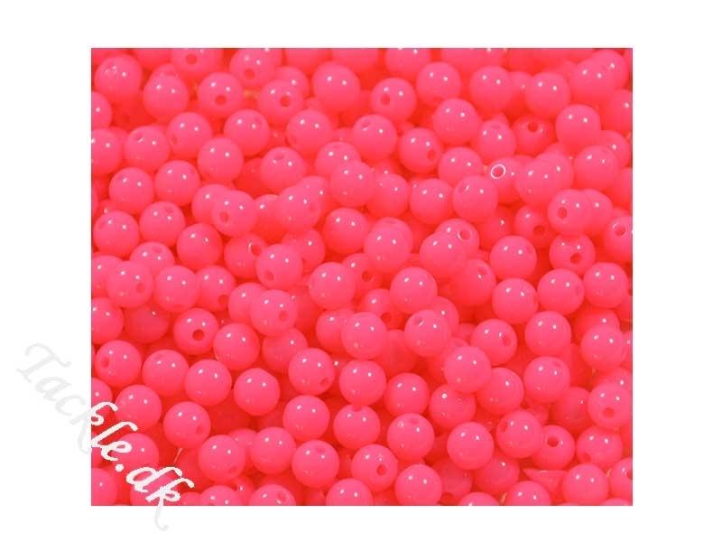 Fluorocerende plastperler 6 mm Pink