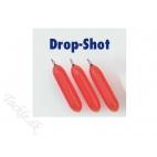 Dropshotlod (miljø) Fluoro rød 10 gr - 4 stk.