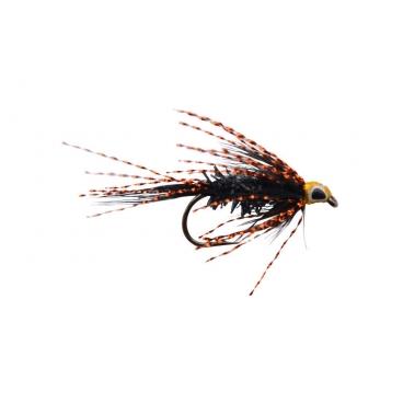 Streamer flue sort/kobber str 4 - 5 stk!